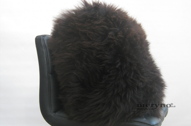 Genuine Brown Sheepskin Pillow Cushion Soft Wool