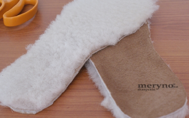 Safety shoes, boots sheepskin insoles 100% genuine soft wool