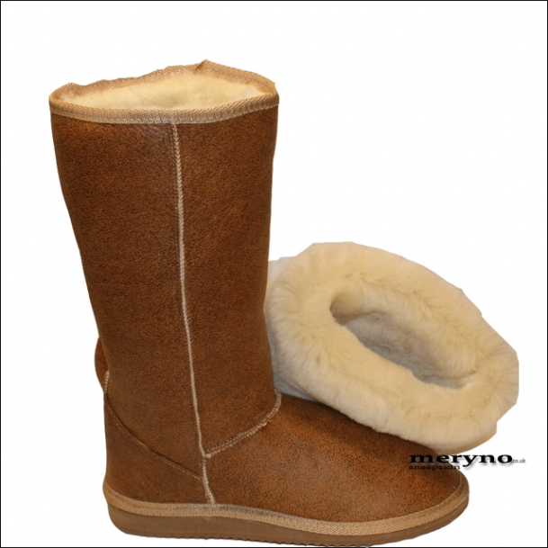 Sheepskin Boots Genuine Winter Shoes Design Dot3 Meryno