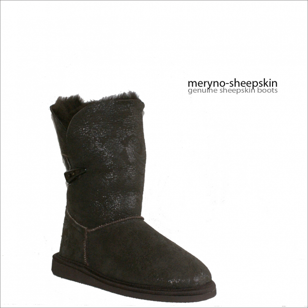 Short Bailey Sheepskin Boots Genuine Winter Design Flower