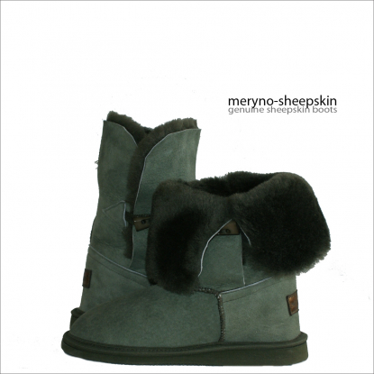 Short Sheepskin Boots Real Winter Shoes Design Suede