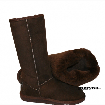 Tall Sheepskin Boots Real Winter Shoes Design Suede