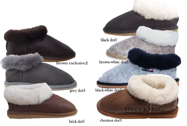 Women Sheepskin Slippers Full Mule Boot Hard Sole all sizes 5 6 7 8