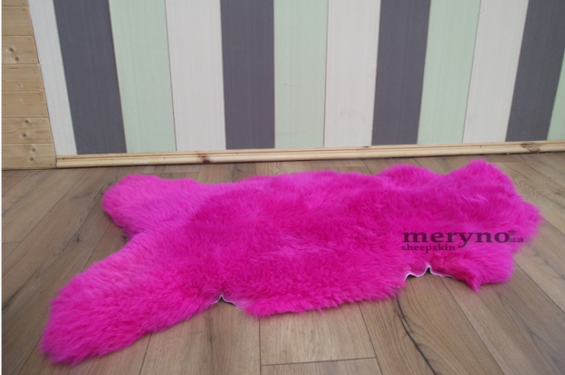 Pink Sheepskin Rug Real, Carpet, Large, AMAZING SOFT WOOL