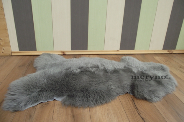 Grey real sheepskin rug, carpet,large, soft wool, luxury