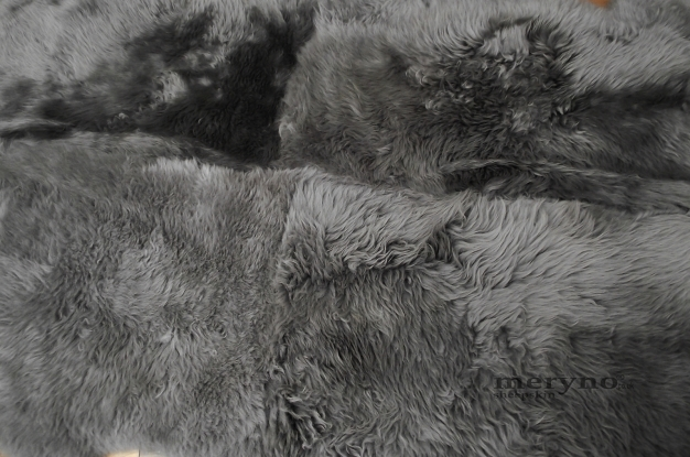 grey quad  sheepskin rug genuine amazing soft wool