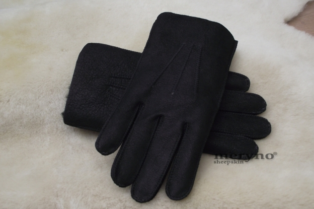 Genuine Sheepskin Ladies Womens Fur Cuff Gloves