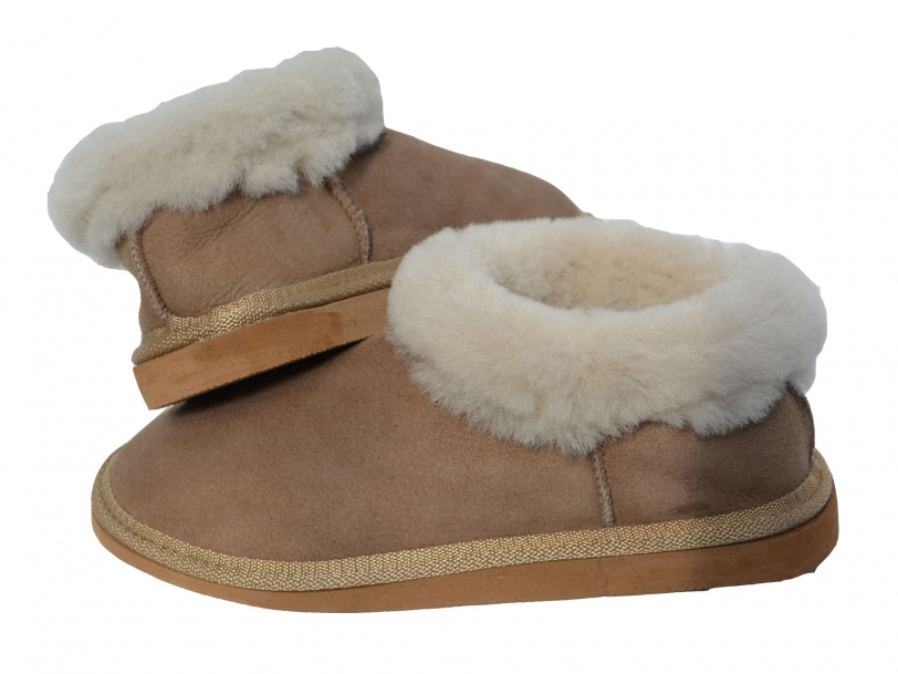 Women sheepskin slippers suede real natural fur