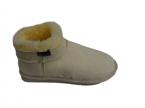 Women medical sheepskin slippers suede warm natural