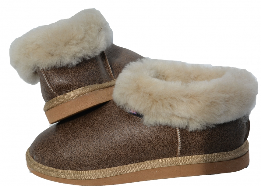 Kvinner Sheep Skin Tøfler Full Mule Boot Hard Sole