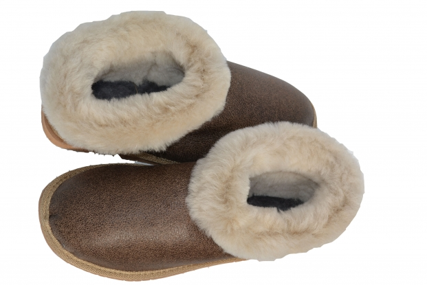 Kvinnor Fårskinn Slipper Full Mule Boot Hard Sole