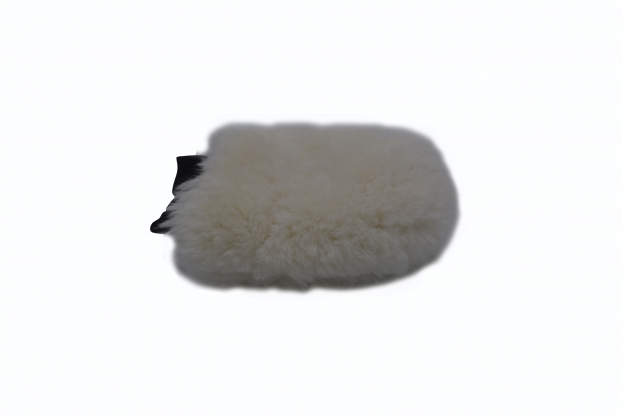 Genuine  sheepskin polishing mitt car wash lambswool yellow