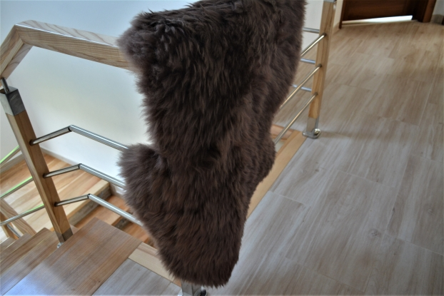 Chocolate Sheepskin rug light brown natural genuine
