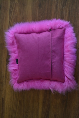 Merino double face  sheepskin pillows cushions genuine white, black, grey, pink
