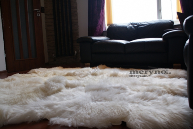 merino cream white sheepskin rug