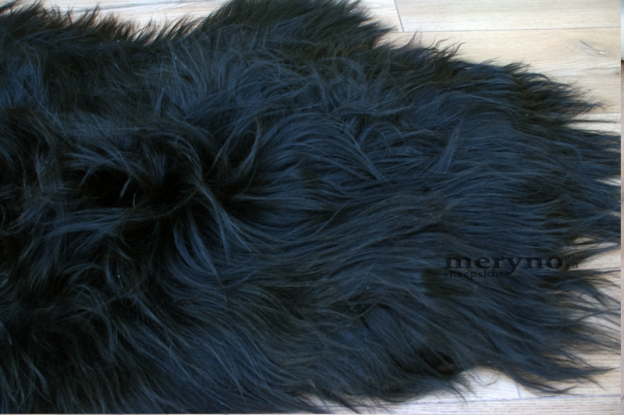 Icelandic Sheepskin Rug Black, AMAZING SOFT WOOL