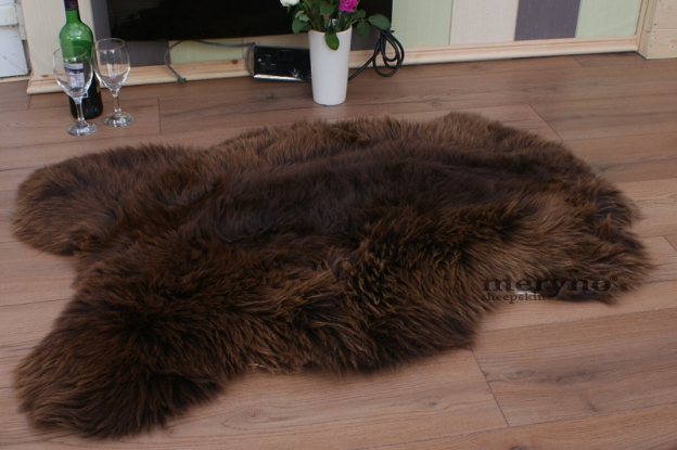 Brown Sheepskin Rug, Genuine A++ Grade Merino