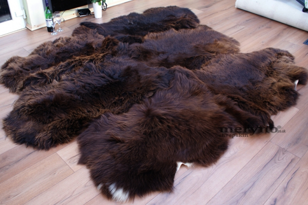 Brown Sexto Genuine Sheepskin Rug Carpet