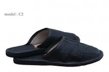 Mens Leather Slippers Sandals Brown Black Hand Made