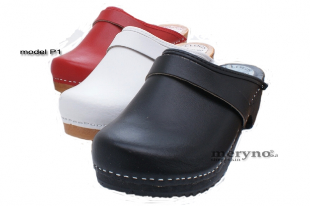 5b91035fd75 Women Hand Made Clog Wooden-sole, genuine leather P1