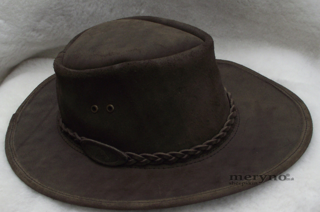 Pelle australiano Bush cowboy cappello da cowboy marrone Incredibile