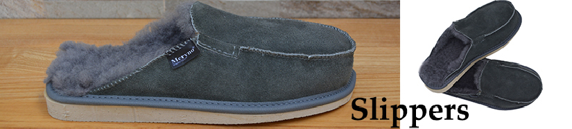 Real Sheepskin Slippers and leather  for Man